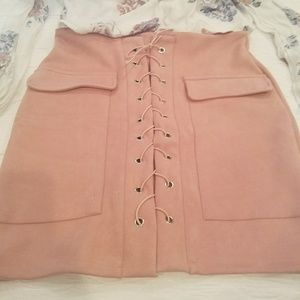 Dresses & Skirts - Cute Pink Suede Skirt